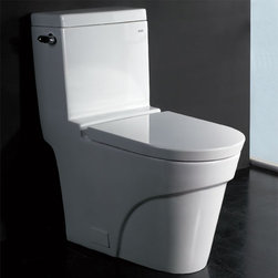 Eago - One Piece Ultra Low Flush Eco-Friendly Toilet - Ultra Low Flush 1.6 gpf. Not Dual Flush. Dimensions: 27 3/8in. x 15in. x 16 3/8in.. One Piece Toilet. European design. Siphonic Flush System. New tower based mechanism; No chain, no flapper. Fully Glazed inside & out. Soft Closing Toilet Seat, Lid & wax ring included. Powerful & efficient 3in. flushing valve. Wide water surface allows for easy cleaning. Balanced water distribution. EAGO Eco-Friendly Dual Flush One Piece Toilets. ManualThe Future of American Toilets. Ultra Low Flush (ULF) Eco-Friendly 1.6 Gallon flush. The Most Advanced Flushing System. Only One Flush. This environmentally friendly toilet will save a family of four an average of 10,000 gallons of water per year! Never be startled again by the loud crash of a slamming toilet seat. The soft drop seat has an innovative hinge system that will gently guide the toilet seat down with out a sound.