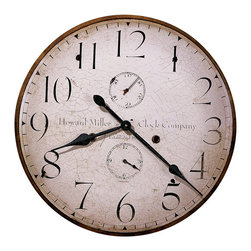 Howard Miller - Howard Miller Original Howard Miller IV Wall Clock - Howard Miller - Wall Clocks - 620315 - This antique traditional wall clock hearkens back to the early 20th century and is perfect for adding an old world charm to home or office. Distinguished by its antique dial with large numerals, spade hands and additional seconds and hour dials, the Howard Miller IV is a reproduction of the first timepiece Miller produced upon his return to America. Battery-operated quartz movement ensures consistent timekeeping and cements the appeal of the Howard Miller IV Wall Clock.
