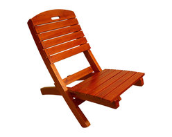 Proman Products - Proman Products Adirondack Outdoor Lounge Chair in Charry - Adirondack outdoor lounge chair, solid wood. Chinese cedar with cherry finish