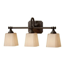 Murray Feiss - 3 Bulb Oil Rubbed Bronze Vanity Strip - - cUL Damp Approved.