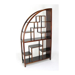Wayborn - Hangchu Display Unit in Birchwood - Unique shape. Multi-sized compartments. Made from Birchwood. Smooth finish. 40 in. W x 12 in. D x 72 in. H (68 lbs.)