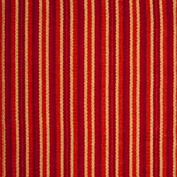 Hook & Loom Rug Company - Monterey Rug, Red/Orange/Yellow, Swatch - Very eco-friendly rug, hand-woven with yarns spun from 100% recycled fiber.  Color comes from the original textiles, so no dyes are used in the making of this rug.  Made in India.