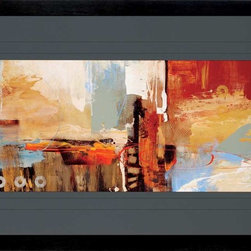 Paragon Decor - Epic Story II Artwork - A stunning contemporary abstract in a large format triple matted in charcoal.