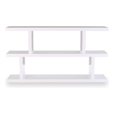 Tema Home - Step Low, Pure White - A little shelf that can go a long way, this small unit can be used alone or combined with others to create any kind of storage solution you can dream up. Designed with modern style in mind, each shelf is staggered in different shapes for differently shaped items. Fill them up with all your favorite books, art and keepsakes.