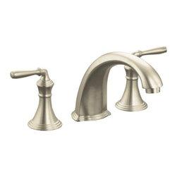 """KOHLER - KOHLER K-T398-4-BN Devonshire Deck-/Rim-Mount High-Flow Bath Faucet Trim - KOHLER K-T398-4-BN Devonshire Deck-/Rim-Mount High-Flow Bath Faucet Trim with 9"""" Spout and Lever Handles in Vibrant Brushed Nickel"""