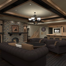 Traditional Basement by Hierarchy Development & Design