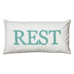 """Rizzy - Rizzy T05979 Pillow, 11"""" x 21"""" - Pillow with Hidden Zipper"""