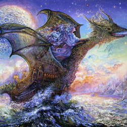 Murals Your Way - Dragon Ship Wall Art - Painted by Josephine Wall, the Dragon Ship wall mural from Murals Your Way will add a distinctive touch to any room