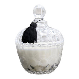 Belgian Berry Sugar Boudoir Candle - 10 oz. - The fresh scent of dew-touched berries stirs the senses to remember a stroll through a summer garden. The Belgian Berry Sugar Boudoir Candle suffuses your home with a scent that rekindles memories of halcyon days. The beautifully stylized glass vessel will scallop detail adds a touch of Parisian prettiness to your boudoir or en suite, while the soy-based candle imparts clean and natural burning.