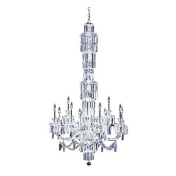 James R Moder - 93959S22 James R Moder Entry Chandelier - In most designs, the major cost of a Crystal Chandelier is the price of the Crystal components. The quantity and shapes of the Crystal utilized to trim the Chandelier and most importantly, as in grades of diamonds, the crystal quality determines the price. James R Moder  Crystal offers IMPERIAL Crystal trim