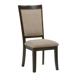 Standard Furniture - Standard Furniture Mulholland Boulevard Upholstered Side Chair (Set of 2) - Refined transitional details give Mulholland Boulevard its polished cosmopolitan style, perfectly complimented by a dressy, mink brown stain.
