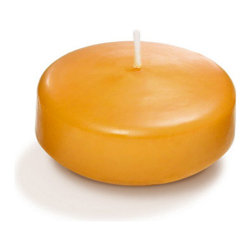 "Neo-Image Candlelight Ltd - Set of 18 - Yummi 2.25"" Harvest Gold Floating Candles - Our unscented 2.25"" Floating Candles are ideal when creating a beautiful candlelight arrangement for the home or wedding decor.  Available in 44 trendy candle colors hand over dipped with white core to match and compliment your home decor or wedding centerpiece decoration."