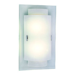 Double RectanglEnergy Saving Wall Sconce -Polished Chrome