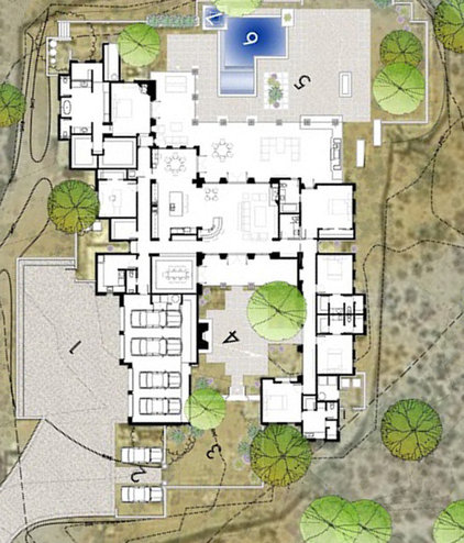 Contemporary Site And Landscape Plan by Tate Studio Architects