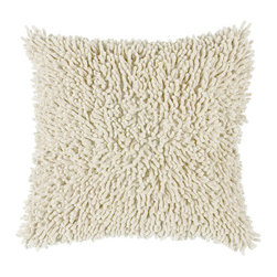 Rizzy Rugs - Rizzy Home Off White 18 Inch x 18 Inch Pillow Cover with Hidden Zipper - - Pillow Cover with Hidden Zipper  - Cotton Fabric  - Shag  - Primary Color - Off White  - Secondary Color - White  -  Machine Wash on Gentle Cycle with Mild Detergent.  Lay Flat to Dry. Rizzy Rugs - T03731
