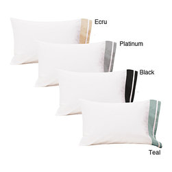 Roxbury Park - Roxbury Park Standard-size Pillowcases (Set of 2) - Add that perfect finishing touch to your bedroom with these elegant standard pillow cases. The 300-thread-count pillowcases feel soft and luxurious on your head,and you can choose from four different colors to match the bedding you already own.