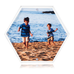 Hexablox - Hexablox Picture Frames - Stack-able Hexagon Block Frames, Single Hexagon - Single Hexablox includes 1 Hexagon frame