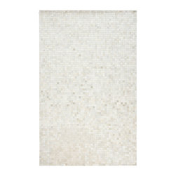 Surya - Surya Trail TRL-1117 (Winter White, Safari Tan) 8' x 10' Rug - Animal skins adapted to modern furnishings. Designed to compliment the most fashionable current decor, these rugs will capture everyone's attention and become the centerpiece of your living space. Hand stitched in India.