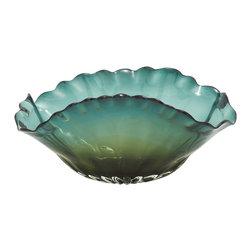 Smart Patterned Glass Fluted Bowl - Description: