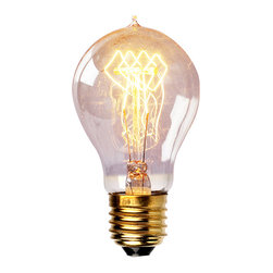 Antique Tungsten Filament Edison Light Bulb, Glass Light Bulb - Enjoy a touch of period home ambience with one of our vintage Edison bulbs. Its diamond filament and slight tint creates a warm and welcoming glow that provides authenticity to any sophisticated interior.Faithfully recreated from historic designs, these light bulbs look great in any exposed light socket such as chandeliers, sconces or socket pendants. Brass E26/E27 screw base with clear glass bulb will assure them a 3000 hours average service life.
