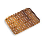 WS Bath Collections - Tapie Shower Mat - Tapie by WS Bath Collections Shower Mat 21.3 x 29.1 in Teak Wood, Made in Italy