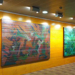 Systematic Art Inc. - arthangingsystems/SystematicArtInc.jpg - Wall-Mounted picture hanging system by Systematic Art.