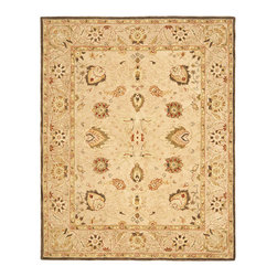 Safavieh - Safavieh Anatolia AN512A, Beige, 6' Square Rug - Anatolia Collection brings old world sophistication and quality in new tufted rugs. This collection captures the authentic look and feel of the decorative rugs made in the late 19th century in this region. Hand spun wool and an ancient pot dying technique together with a densely woven thick pile, gives Anatolia rugs their authentic finish.