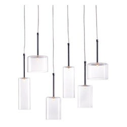 Zuo Lighting - Zuo Hale Ceiling Lamp, Clear - Our Hale Clear Ceiling Lamp makes simple look trendy with its unit shade. This interesting piece hangs from a wire. Add this striking piece to the kitchen, dinette, foyer or dining room for a warm ambiance.