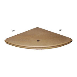 Cast Stone Round corner Bench Exotic Noce or Exotic Ivory - Cast Stone Round corner Bench Exotic Noce or Exotic Ivory