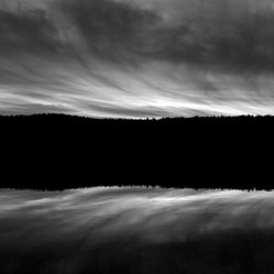 Shin Pond Maine - Shin Pond in Maine is a beloved vacation destination, spectacularly captured in this black and white photograph. The fact that there are only 20 signed prints, made on Hahnemuhle archival rag paper, means you'll be a big fish in the pond of art collectors when you own this piece.