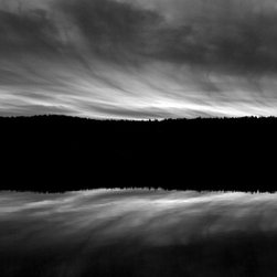 """""""Shin Pond Maine"""" Artwork - Shin Pond in Maine is a beloved vacation destination, spectacularly captured in this black and white photograph. The fact that there are only 20 signed prints, made on Hahnemuhle archival rag paper, means you'll be a big fish in the pond of art collectors when you own this piece."""