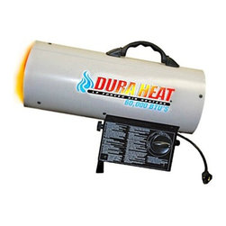"World Marketing - DuraHeat Forced Air Outdoor - DuraHeat LP Forced Air Outdoor Heater with Variable heat setting  Heats up to 1500 sq. ft  Operates 7 - 14 hours on a singe 20lb. LP cylinder  Continuous ignition  Ideal for agricultural  industrial  construction and DIY applications.  Includes 10ft hose and regulator.  Dimensions: 13.5"" x 7.8"" x 18.2""  This item cannot be shipped to APO/FPO addresses. Please accept our apologies."