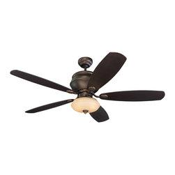 "Monte Carlo - Monte Carlo 5WS52RBD-L Weatherstar Roman Bronze 52"" Outdoor Ceiling Fan - Indoor or Outdoor WET Rated"