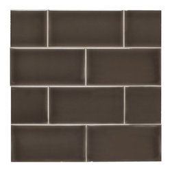 "H Line - Glossy Subway Tile - Cafe, 4""x16"", Sample - Sample Sold by the PIECE"