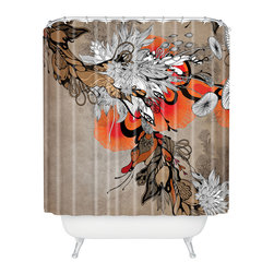 DENY Designs - Iveta Abolina Sonnet Shower Curtain - Who says bathrooms can't be fun? To get the most bang for your buck, start with an artistic, inventive shower curtain. We've got endless options that will really make your bathroom pop. Heck, your guests may start spending a little extra time in there because of it!