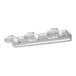 Led 3 Lights Wall Sconces Vanity Light for Bathroom - You're looking for a bright idea for your bath … some new, slightly out-of-the-box look that still squares with your idea of beautiful design. This cube bath light gives you enough classic polish and contemporary style to let you keep your decor options open.