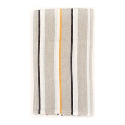 Vero Tea Towel - Oh, the simple pleasures of striped linens. They get me weak every time, especially in this ridiculously successful color combination.