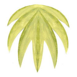 "Stencil Ease - Rainforest Palm Stencil - Rainforest Palm Home Decor Stencil Contains: 2 - 9"" x 18"" stencil sheets Actual size: 7.11"" wide x 15.2"" high (18.06 cm x 38.61 cm) This design was painted using the following Americana Acrylic stencil paint colors: MDA02051 Leaf Green MDA02010 Lemon Yellow MDA02208 Celery Green Complete kit comes with stencils paints and 1 TT10068 double ended stencil brush."