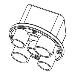 THERMOCRAFT INDUSTRIES INC. - 5-Hole Junction Box - Pool - GEP-57-6036-5-Hole Junction BOX - Pool