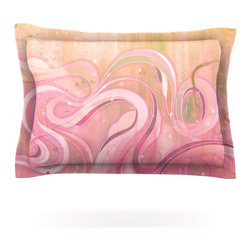 """Kess InHouse - Mat Miller """"Cascade"""" Pillow Sham (Cotton, 40"""" x 20"""") - Pairing your already chic duvet cover with playful pillow shams is the perfect way to tie your bedroom together. There are endless possibilities to feed your artistic palette with these imaginative pillow shams. It will looks so elegant you won't want ruin the masterpiece you have created when you go to bed. Not only are these pillow shams nice to look at they are also made from a high quality cotton blend. They are so soft that they will elevate your sleep up to level that is beyond Cloud 9. We always print our goods with the highest quality printing process in order to maintain the integrity of the art that you are adeptly displaying. This means that you won't have to worry about your art fading or your sham loosing it's freshness."""