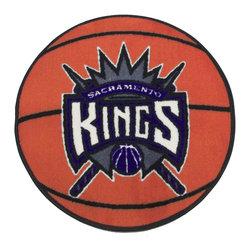 Fanmats - NBA Sacramento Kings Rug Basketball Shaped Mat - FEATURES:
