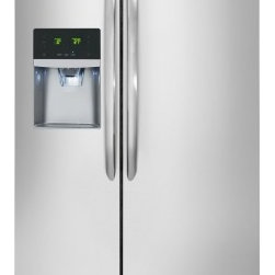 Frigidaire - Gallery FGHC2355PF 23 Cu. Ft. Counter-Depth Side-by-Side Refrigerator With Autom - Designed to work in harmony with the way you live the Energy Star Rated Frigidaire FGHC2355PF is loaded with features The Combination of Adjustable Interior Storage Humidity-Controlled Crisper Drawers Sliding SpillSafe Glass Shelves Deli Drawer and S...