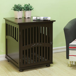 None - Large Daisy Residence - Large Daisy Buddy Residence.  Daisy crate gives your precious buddy a luxurious space to sleep and relax.  Front door with matching Antique Bronze latch lock. Easy to assemble.