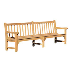 "Oxford Garden Essex 8' Shorea Bench - Doubly long for double the people. The Essex 8' Bench is long and stylish. With enough room to hold the whole family, this super Shorea wood bench is sturdy and built to last. Gaze at the passers-by with a friend (or two)"" there's plenty of room. Comfortable curved slats provide maximum wellbeing. You're not seeing double, it's the Essex 8' Bench."