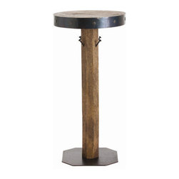 "Arteriors - Arteriors Home - Aidan Clad Bar Table - 2356 - Arteriors Home - Aidan Clad Bar Table - 2356 Features: Aidan Collection Bar TableNatural ColorWax / Oxidized FinishWood / Iron construction4 HooksContemporary style Some Assembly Required. Dimensions: 39"" H X 19""D"