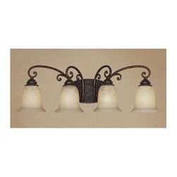 Designers Fountain - Designers Fountain 97504 Four Light Down Lighting Bathroom Fixture from the Amhe - Features: