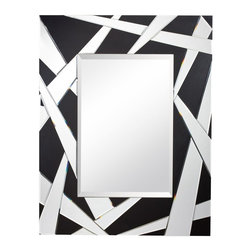 Kichler - Kichler Cutting Edge Mirror in Black Material (Not Painted) - Shown in picture: Mirror in Black Material (Not Painted)