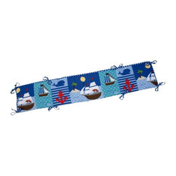 Little Bedding by NoJo - Little Bedding by NoJo Baby Buccaneer Traditional Padded Bumper - 6668002 - Shop for Crib Bumper Pads from Hayneedle.com! Add a little nautical fun in your nursery with the Little Bedding by NoJo Baby Buccaneer Traditional Padded Bumper. With pirate ships whales anchors and islands this four-piece bumper is made of a polyester and cotton blend and is designed to fit standard-sized cribs.About NoJoOffering fashionable safe and reliable products throughout the United States for the past 40 years NoJo's goal is to offer fashion-forward infant and toddler bedding blankets and accessories that meet the demands of today's modern lifestyle. NoJo puts not only style into their products but comfort and safety too.