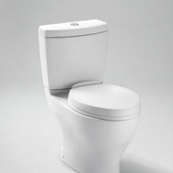 Toto Aquia Dual Max Toilet - With enough finishes to make your head spin, the Toto Aquia Dual Max Toilet is sure to fit your personal style. It is made from low-maintenance vitreous china that cleans up in a snap. The dual flush is even eco-friendly, letting you choose the appropriate water usage.About TotoToto Ltd was founded in Kitakyushu Japan along with Toto USA in 1917. In almost a century they have grown into an international company with over 60 million plumbing fixtures produced and $5.1 billion dollars in annual sales. Today, Toto is the largest plumbing manufacturer in the world and maintains 60 offices that employ over 23,500 workers worldwide. All Toto products feature elegant designs that are affordable and save as much water as possible. The standard of excellence is so high that Toto is the only plumbing manufacturer honored as a Water Efficiency Leader by the Environmental Protection Agency. Always looking to the future, Toto has three centers devoted solely to research so they can continue to lead the plumbing fixture market for years to come. In fact, that's their motto: People First Innovation.
