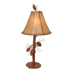 Steel Partners Inc - Table Lamp - SARANAC - Every piece we create is unique — handcrafted at our factory in Chehalis, Washington, USA. Due to this, lead times are 2 to 4 weeks.